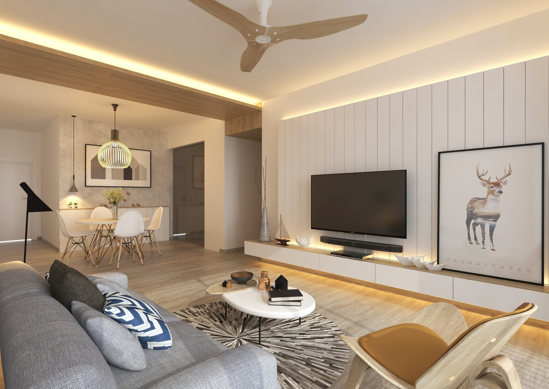 living room airy