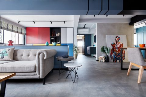 living room bohemian