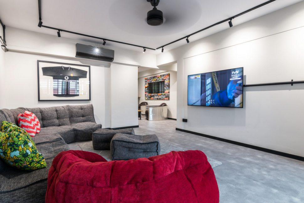 living room white hdb renovation