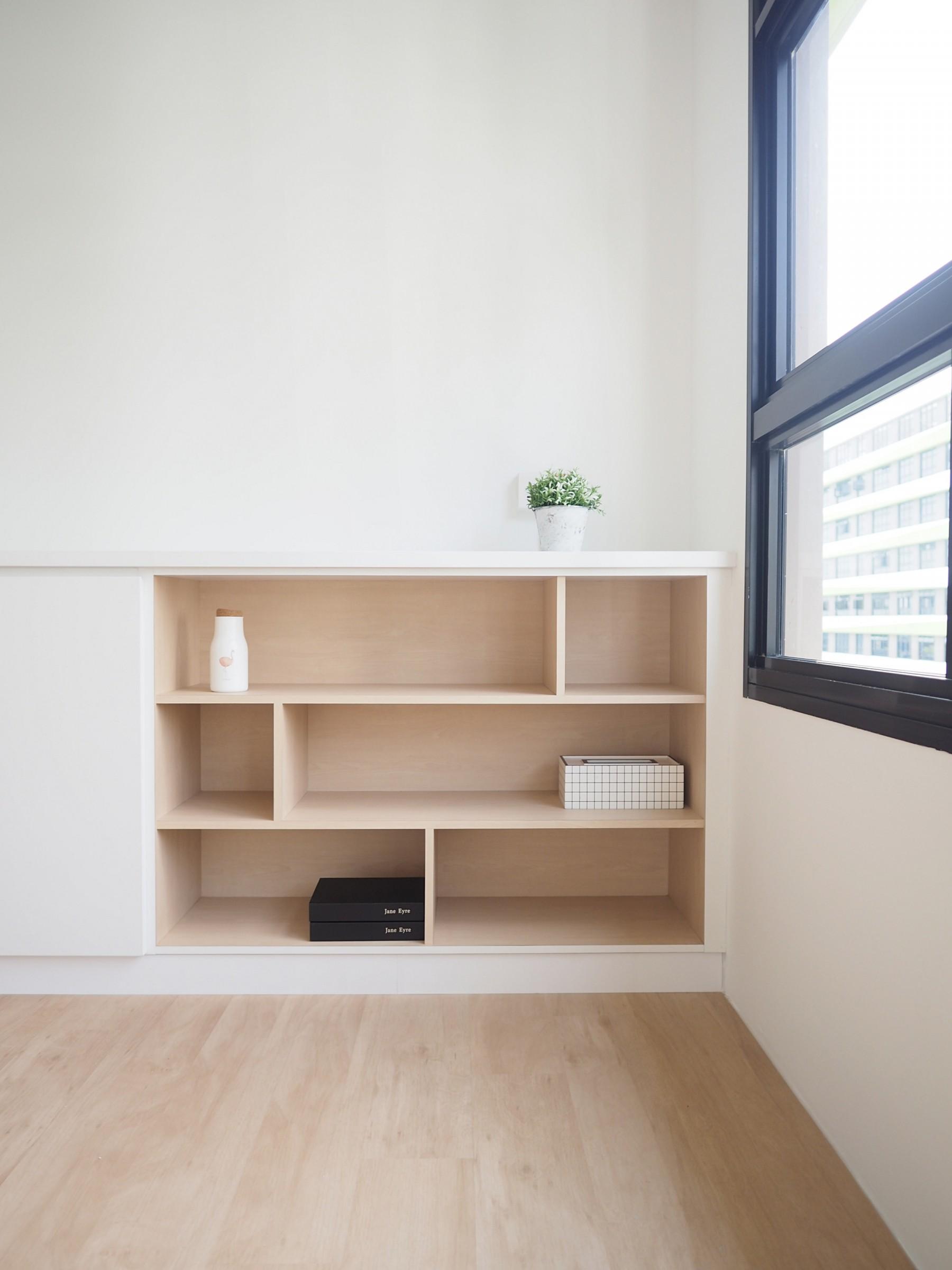 open storage shelf