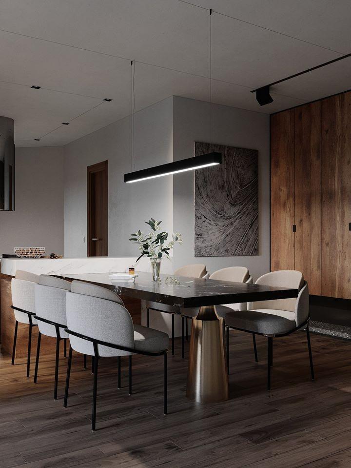 industrial dining room condo