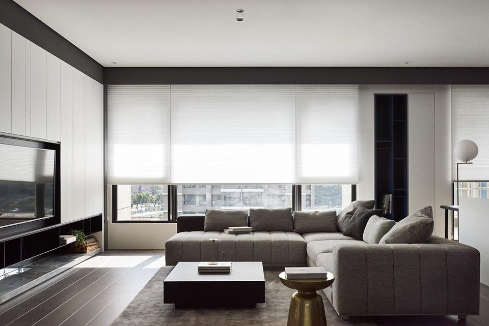 modern hdb living room