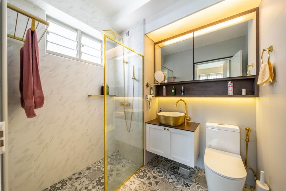 scandi eclectic bathroom