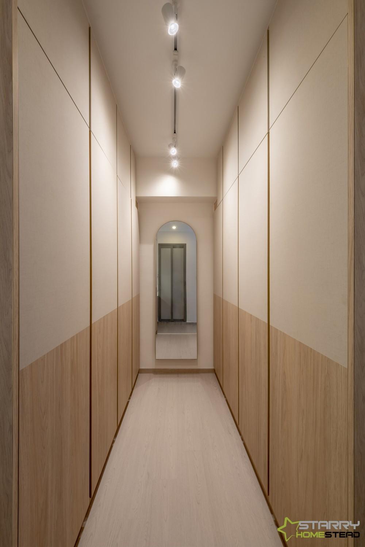 scandi walk in wardrobe