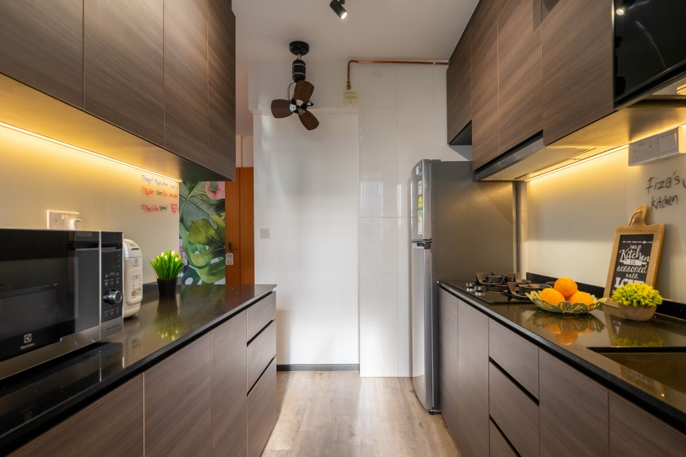 sims place contemporary kitchen