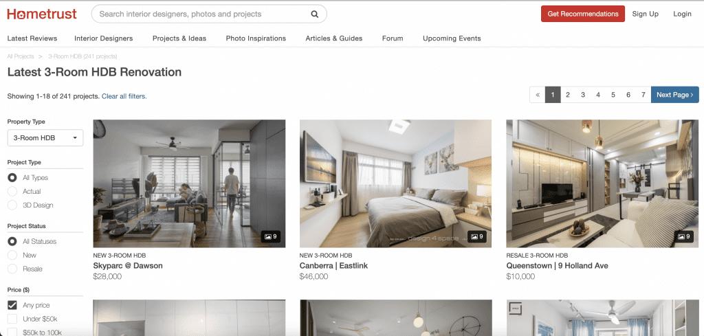 hometrust 3 room portfolio