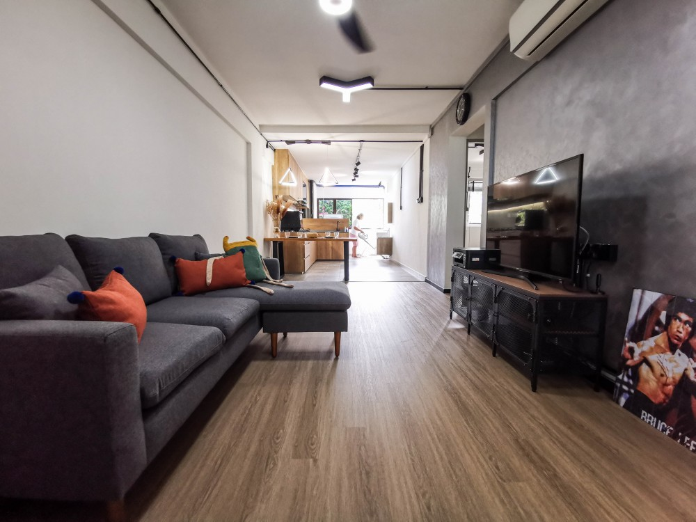 industrial 3 room living room